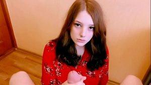 Image Gozada na cara da novinha virgem inocente